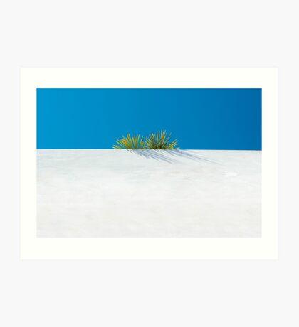 Über der tropischen Gartenmauer Kunstdruck