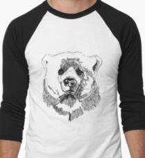 Bear Black Men's Baseball ¾ T-Shirt