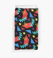 80s Squiggle Dance Pattern Duvet Cover