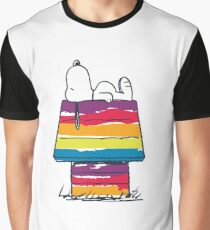 snoopy and rainbow Graphic T-Shirt