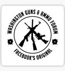 Washington guns & ammo forum logo Sticker