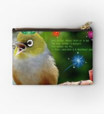 Merry Christmas Bubbler's! - Silver-Eye - NZ Studio Pouch