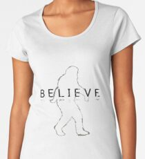 Bigfoot Sasquatch Believe Sketch Women's Premium T-Shirt