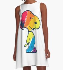 rainbow snoopy A-Line Dress