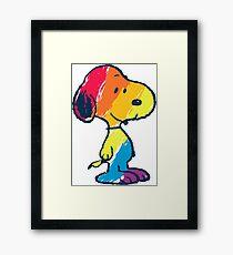 rainbow snoopy Framed Print