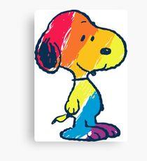 rainbow snoopy Canvas Print