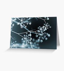 Midnight Glow. Dark Floral Greeting Card