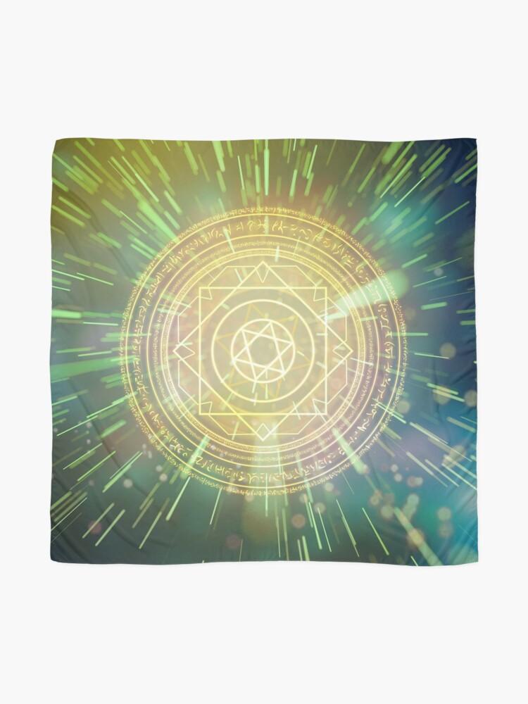 Alternative Ansicht von Seltsame magische Mandala 3 Tuch