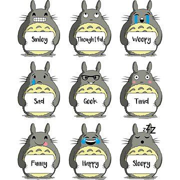 Totoro Emoji by RiverartDesign