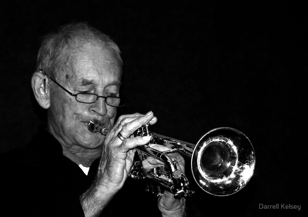 Eric The Trumpet Player by Darrell Kelsey