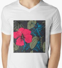 Tropical exotic flowers and leaves T-Shirt