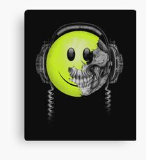 Zombie DJ Smiley Face Canvas Print