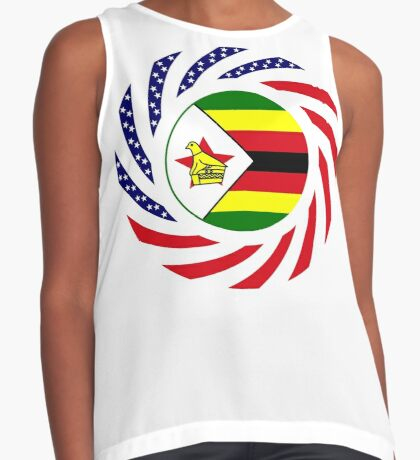 Zimbabwean American Multinational Patriot Flag Series Sleeveless Top
