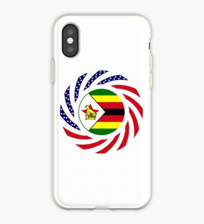 Zimbabwean American Multinational Patriot Flag Series iPhone Case