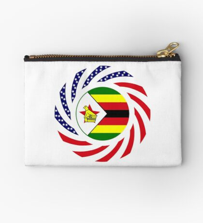 Zimbabwean American Multinational Patriot Flag Series Zipper Pouch