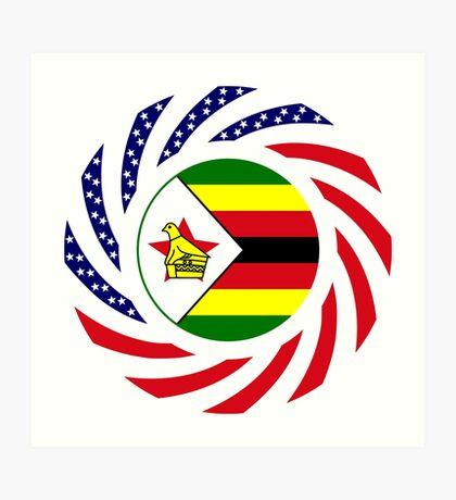 Zimbabwean American Multinational Patriot Flag Series Art Print