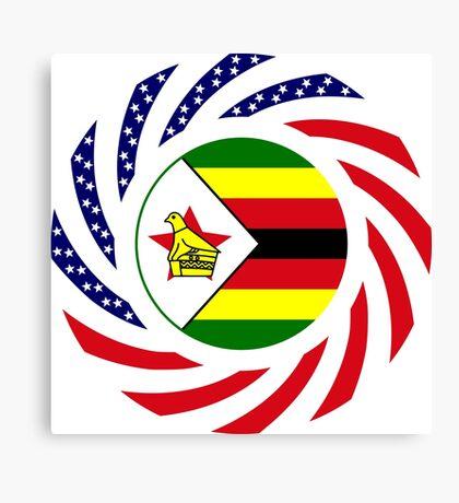 Zimbabwean American Multinational Patriot Flag Series Canvas Print