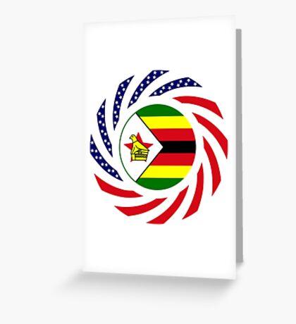 Zimbabwean American Multinational Patriot Flag Series Greeting Card
