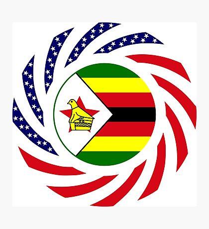 Zimbabwean American Multinational Patriot Flag Series Photographic Print