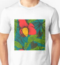 Seamless tropical pattern with banana palms.  Unisex T-Shirt