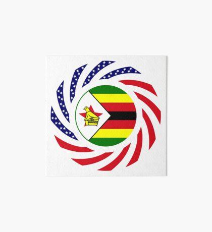 Zimbabwean American Multinational Patriot Flag Series Art Board Print