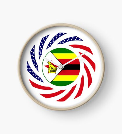 Zimbabwean American Multinational Patriot Flag Series Clock
