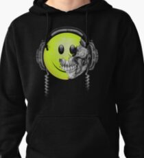 Zombie DJ Smiley Face Pullover Hoodie