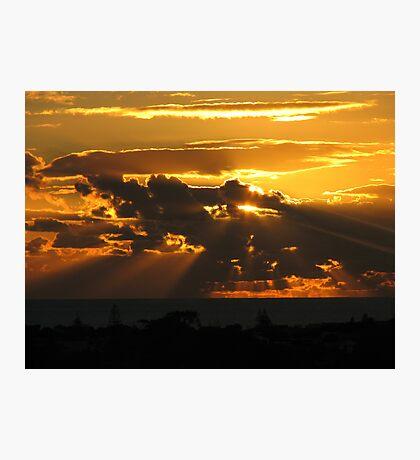 Sleepy Town Sundown Photographic Print