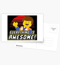 Everything is awesome! Postcards