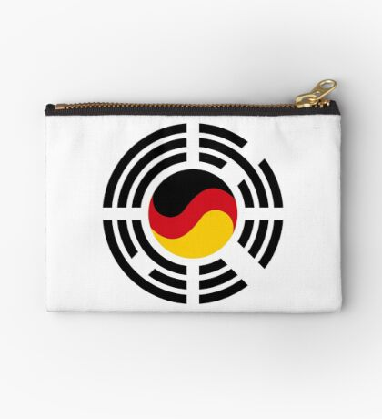 Korean German Multinational Patriot Flag Series Zipper Pouch