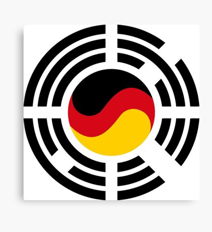 Korean German Multinational Patriot Flag Series Canvas Print