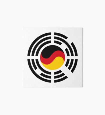 Korean German Multinational Patriot Flag Series Art Board Print