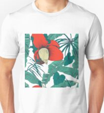 Seamless tropical pattern with banana palms. Vector illustration. Unisex T-Shirt