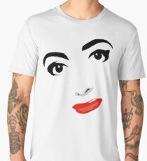 Joan Crawford - Black and White Portrait Men's Premium T-Shirt
