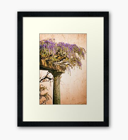 Porch with Wisteria Framed Print