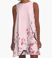 Kirschblüte A-Linien Kleid