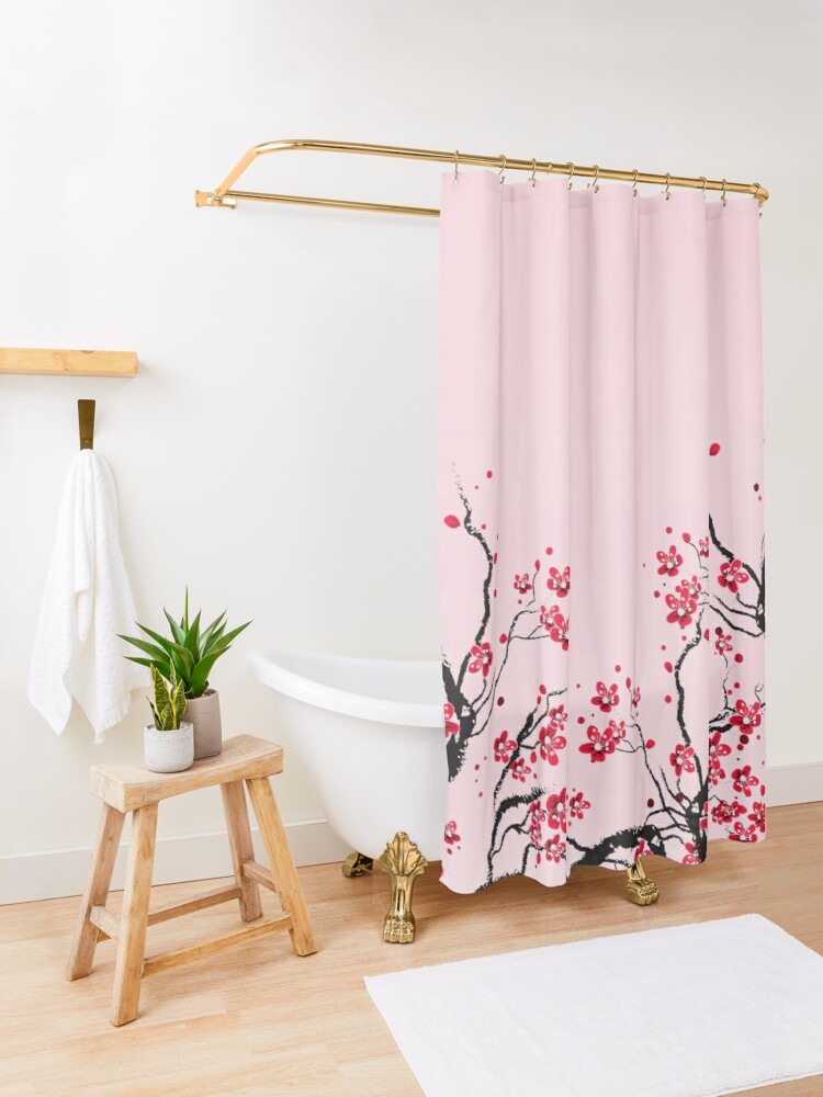 Alternate view of Cherry Blossom Shower Curtain