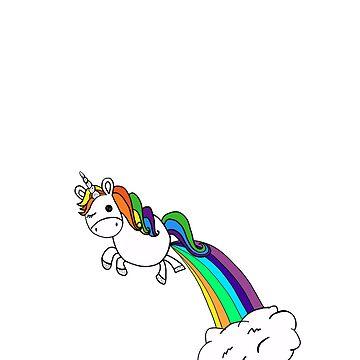 Funny Farting Unicorn by treasuregnome