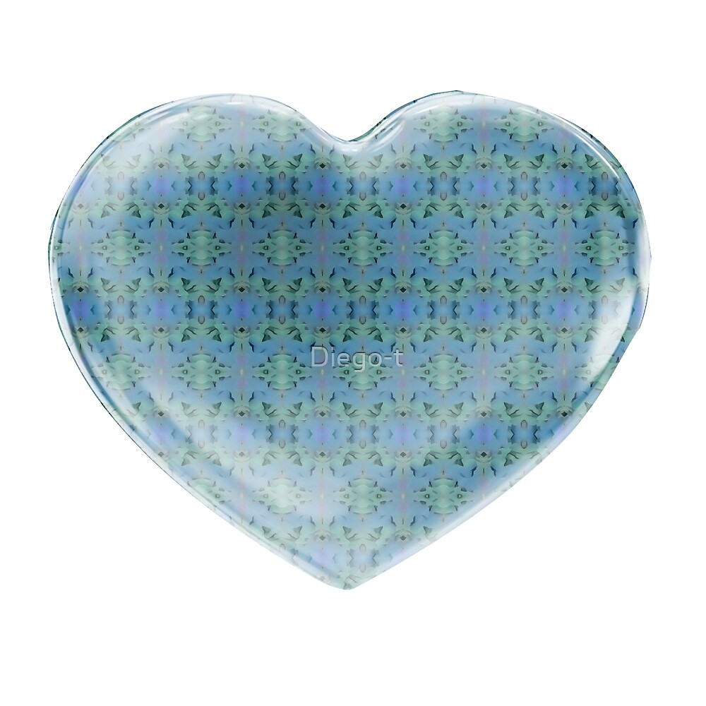 Deep Style Digital Pattern  and Heart 13 by Diego-t