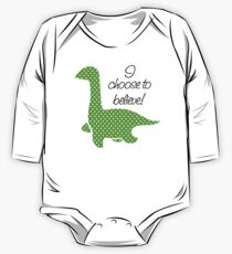"""Nessie"" Lochness Monster Green Polka Dots Dotted Bright Cute Mythical Creature Kids Clothes"