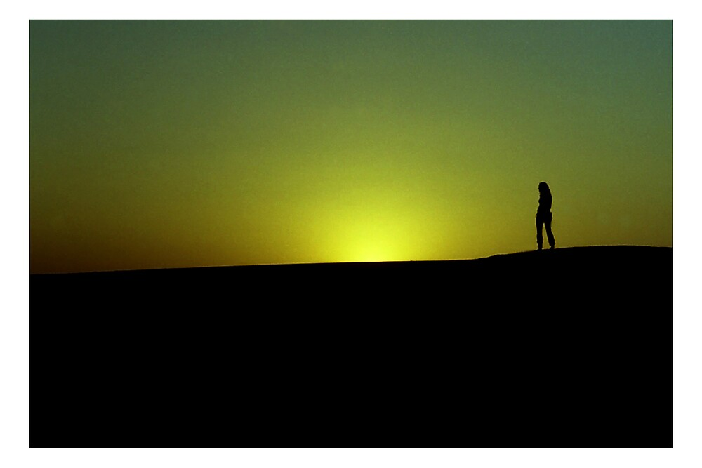Thar Desert at sunset by Elisabeth  Harvey