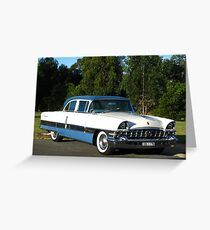 Packard #12 - 1956 Patrician White & Blue Greeting Card