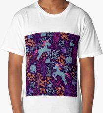 Seamless pattern with a unicorn  Long T-Shirt
