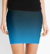 Ombre Cerulean Blue Mini Skirt
