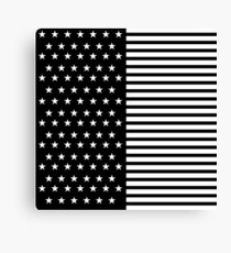 USA Black Flag Canvas Print
