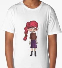 Pink haired girl Long T-Shirt