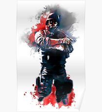 Rainbow Six Siege Thermite Painting Poster