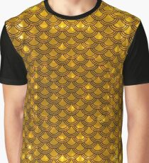Chinese Scales Golden Dragon Graphic T-Shirt