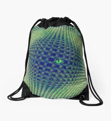 Hiding in the sphere Drawstring Bag