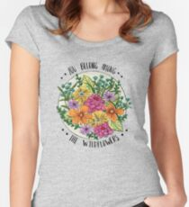 You Belong Among the Wildflowers Women's Fitted Scoop T-Shirt